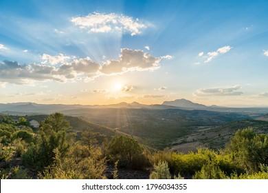 Beautiful Sunset over Prescott Arizona