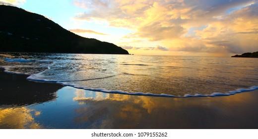 A beautiful sunset over Tortola British Virgin Islands