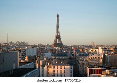 Beautiful sunset in Paris