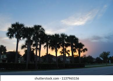 Beautiful Sunset in Parkland, Florida