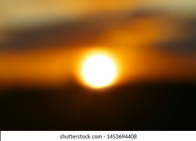 Beautiful sunset photographed close-up against the sky