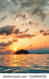 Beautiful sunset in Phuket, Thailand