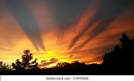 Beautiful Sunset in Peñuelas, Puerto Rico