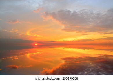 Beautiful Sunset with reflection