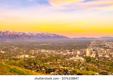 Beautiful Sunset in Salt Lake City, Utah