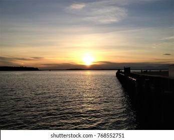Beautiful sunset in Seattle.