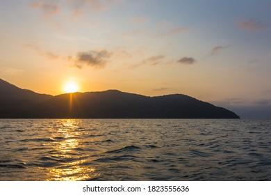 Beautiful sunset seen at Ilha Grande - Ilha Grande, Angra dos Reis, Brazil - Shutterstock ID 1823555636