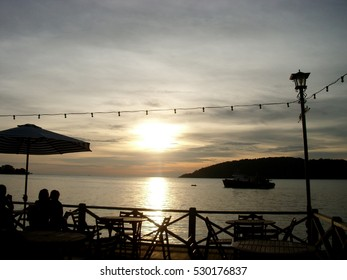 Beautiful sunset seen from Malaysia sea