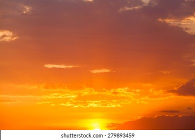 Beautiful sunset sky. Sky Background.