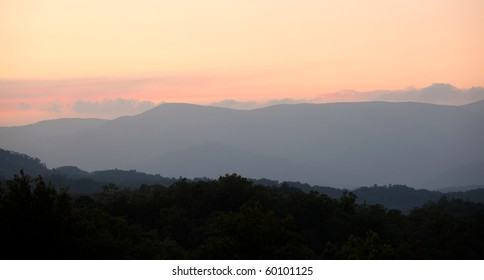 Beautiful Sunset in Smoky Mountains