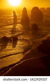 Beautiful Sunset in Twelve Apostles