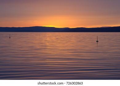 Beautiful sunset, twilight
