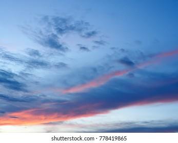 beautiful sunset twilight sky