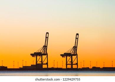 A beautiful sunset view of the Duqm port