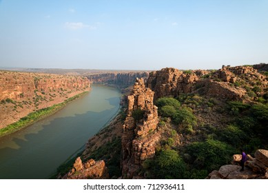 Beautiful sunset view to great indian canyon in Gandikota