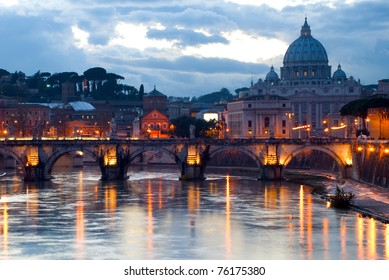 Beautiful sunset view at Vatican, Rome
