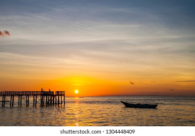Beautiful Sunset View in Wangi-Wangi, Wakatobi, South East Sulawesi, Indonesia.