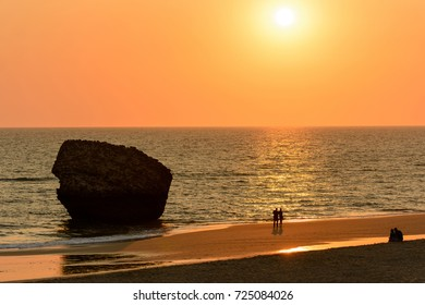 Beautiful sunshine at Matalascanas beach, Huelva county, Andalusia, Spain