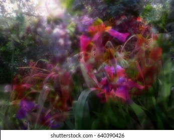 Beautiful surreal floral background
