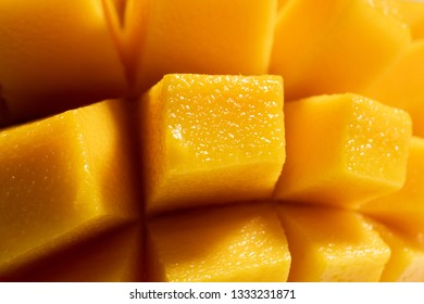 Beautiful sweet and juicy slices of mango