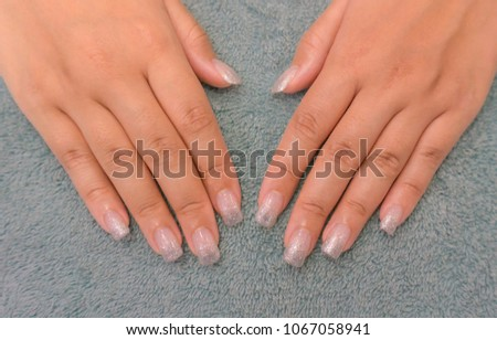 Beautiful Sweet White Pearl Ombre Gritter Stock Photo Edit Now