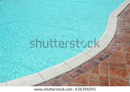 Beautiful Swimming Pool Seaside Hotel Park Stock Photo (Edit Now ...