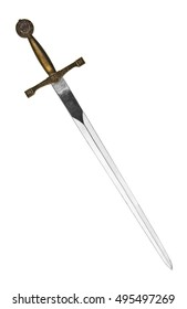 Beautiful sword isolated on a white background