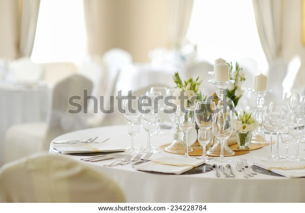 Beautiful Table Set Event Party Wedding Stock Photo (Edit Now ...