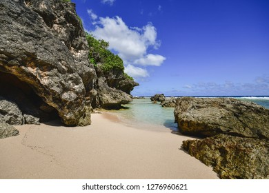 Beautiful Tagachang Beach in Guam, US Territory.