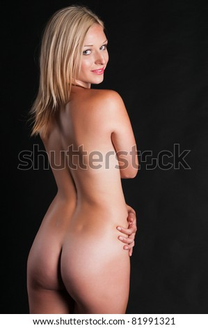 standing nude blonde Tall