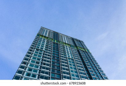 Beautiful tall buildings with sky background