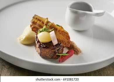 Beautiful and tasty food on a plate