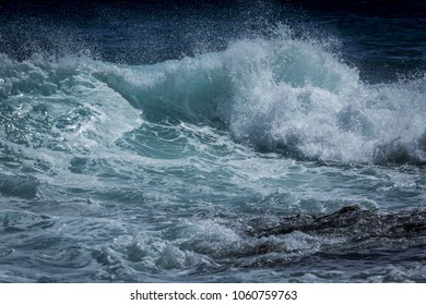 Beautiful teal ocean waves