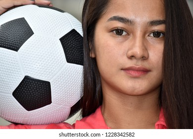 Beautiful Teen Athlete Female Soccer Player