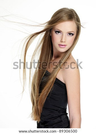 Haired long teen