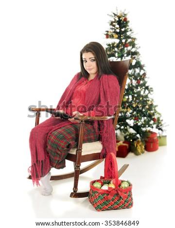 a137fcd8c Beautiful Teen Girl Snuggled Her Pajamas Stock Photo (Edit Now ...