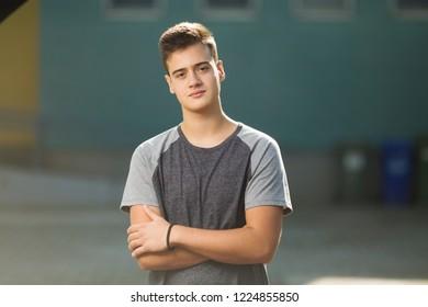 Beautiful teenage boy