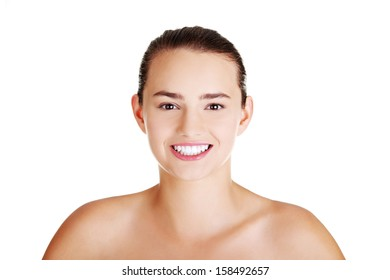 Beautiful teenager portrait, with healthy clean skin.