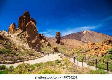 beautiful Teide National Park in Tenerife, Canary Islands, Spain