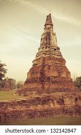 Beautiful temple in Ayutthaya. Thailand.