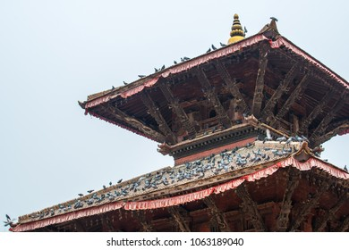 The beautiful temple in Bhaktapur or Bhadgaon the city of Devotees. This is Nepal World Heritage Site by UNESCO.