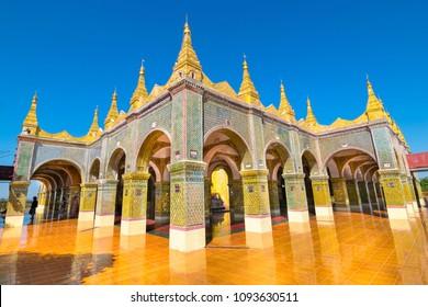 Beautiful temple at de top of Mandalay Hill - Mandalay, Myanmar.