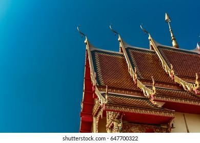 Beautiful temple Thai art of the faith in Thailand