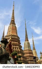 A Beautiful Temple, Wat Phra Chetuphon (Wat Pho), Bangkok, Thailand