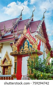 Beautiful temple Wat Samai Kongka on Ko Pha Ngan, Thailand on a sunny day