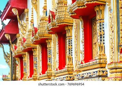 Beautiful temple Wat Samai Kongka on Ko Pha Ngan, Thailand.