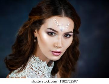 Beautiful tender girl. Young woman with beautiful face - Shutterstock ID 1382732597