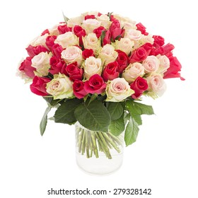 Beautiful tender roses in a vase