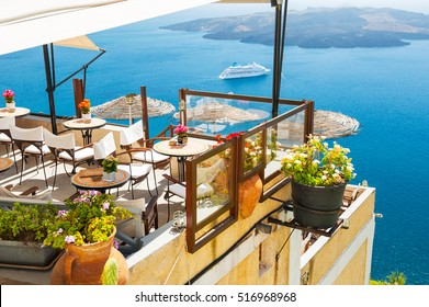 Santorini Restaurant Images, Stock Photos & Vectors | Shutterstock
