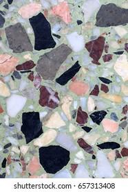 Beautiful terrazzo floor,polished stone floor